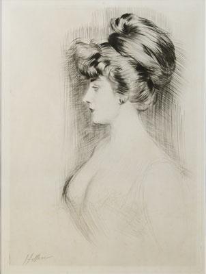 Paul Cesar Helleu - Portrait of a Woman