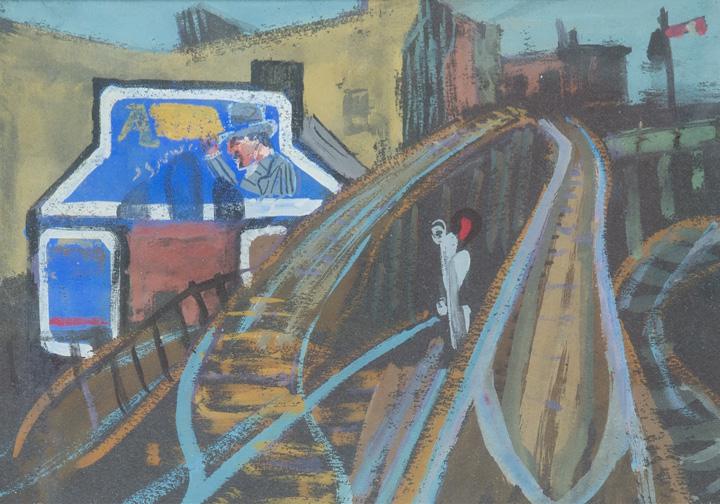 Joseph Solman - Approaching Chatham Square