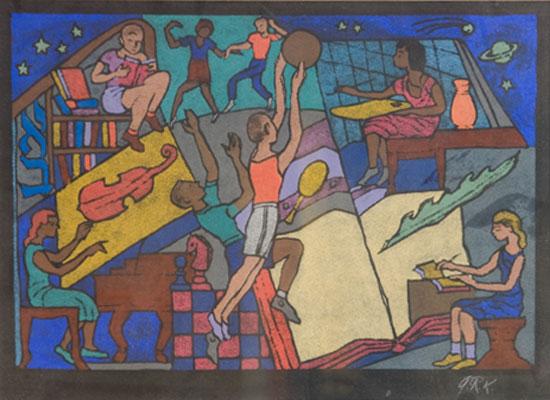 A. Raymond Katz - Sports Mural