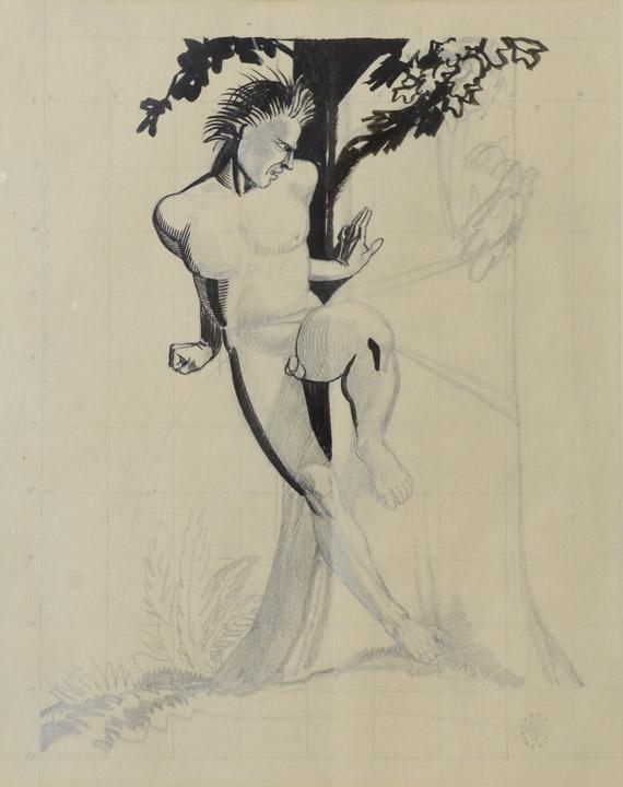 Rockwell Kent - Male Figure