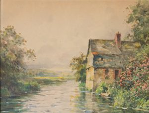 Louis Aston Knight - Cottage on the River