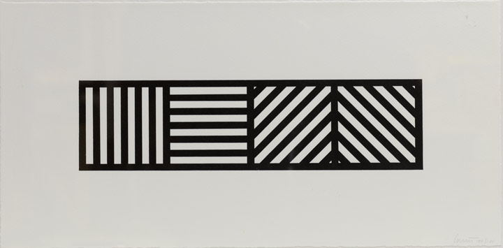 Sol LeWitt - Four Squares in Different Directions