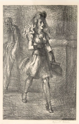Reginald Marsh - Girl Walking