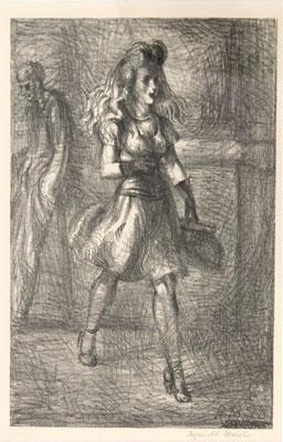 Reginald Marsh - Girl Walking