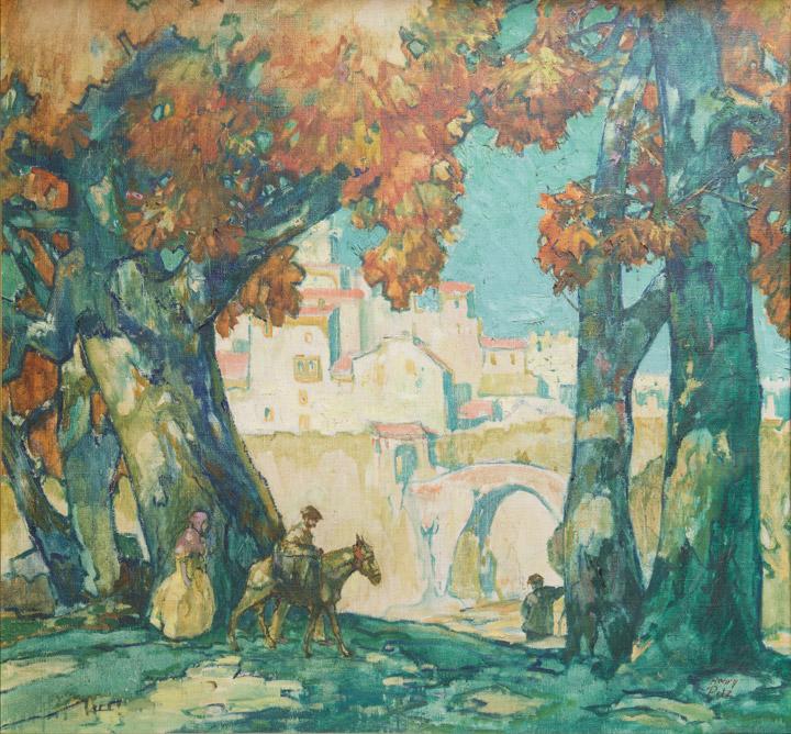 Henry Pitz - Village Scene