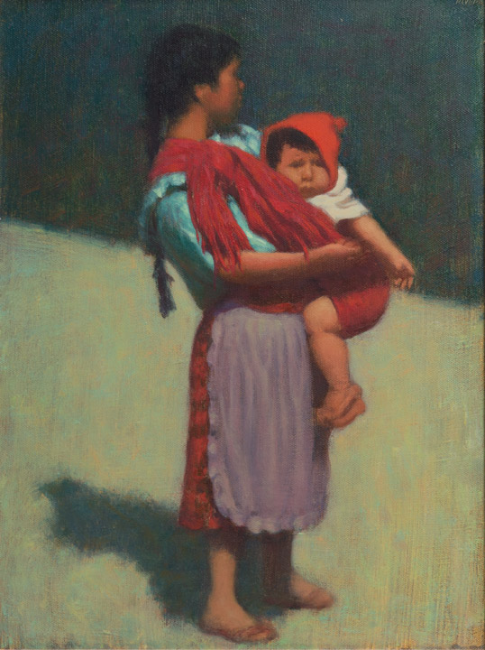 Elias Rivera - Oaxaca Mother and Child