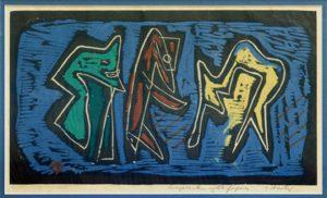 Louis Schanker - Composition with Figures