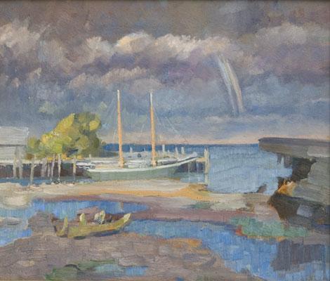 Frederick Sexton - Harbor Scene