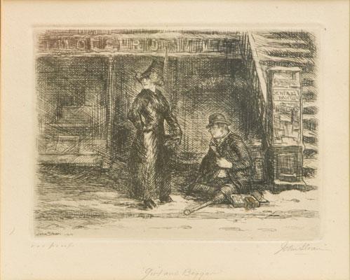 John Sloan - Girl & Beggar