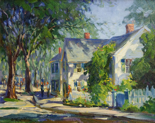 Paul Strisik - Rockport Town Scene I