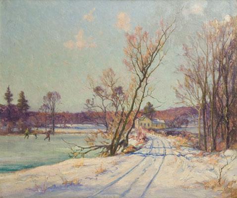 Charles Vermoskie - Skating in a Landscape