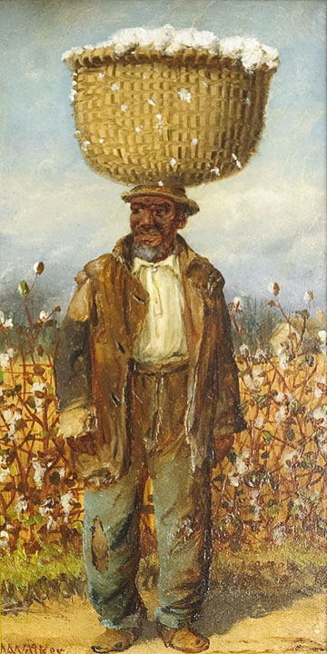 William Aiken Walker - Black Man with Cotton
