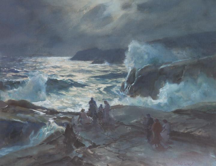 John Whorf - Evening Shore Scene