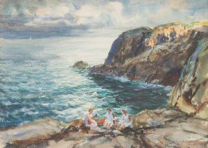 John Whorf - Musicians on the Rocks
