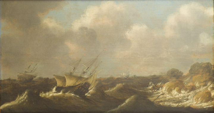 Claes Claesz Wou - Stormy Seas